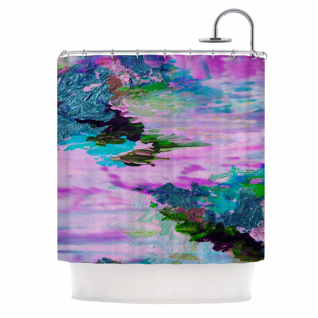 "Ebi Emporium ""On Cloud Nine - 4"" Pink Teal Shower Curtain - KESS InHouse"