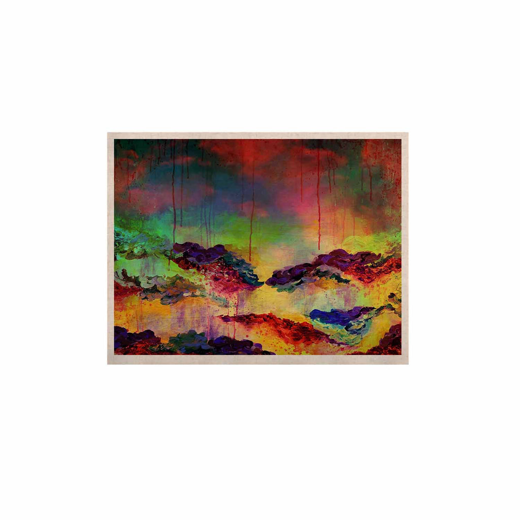 "Ebi Emporium ""It's A Rose Colored Life 4"" Yellow Red KESS Naturals Canvas (Frame not Included) - KESS InHouse  - 1"