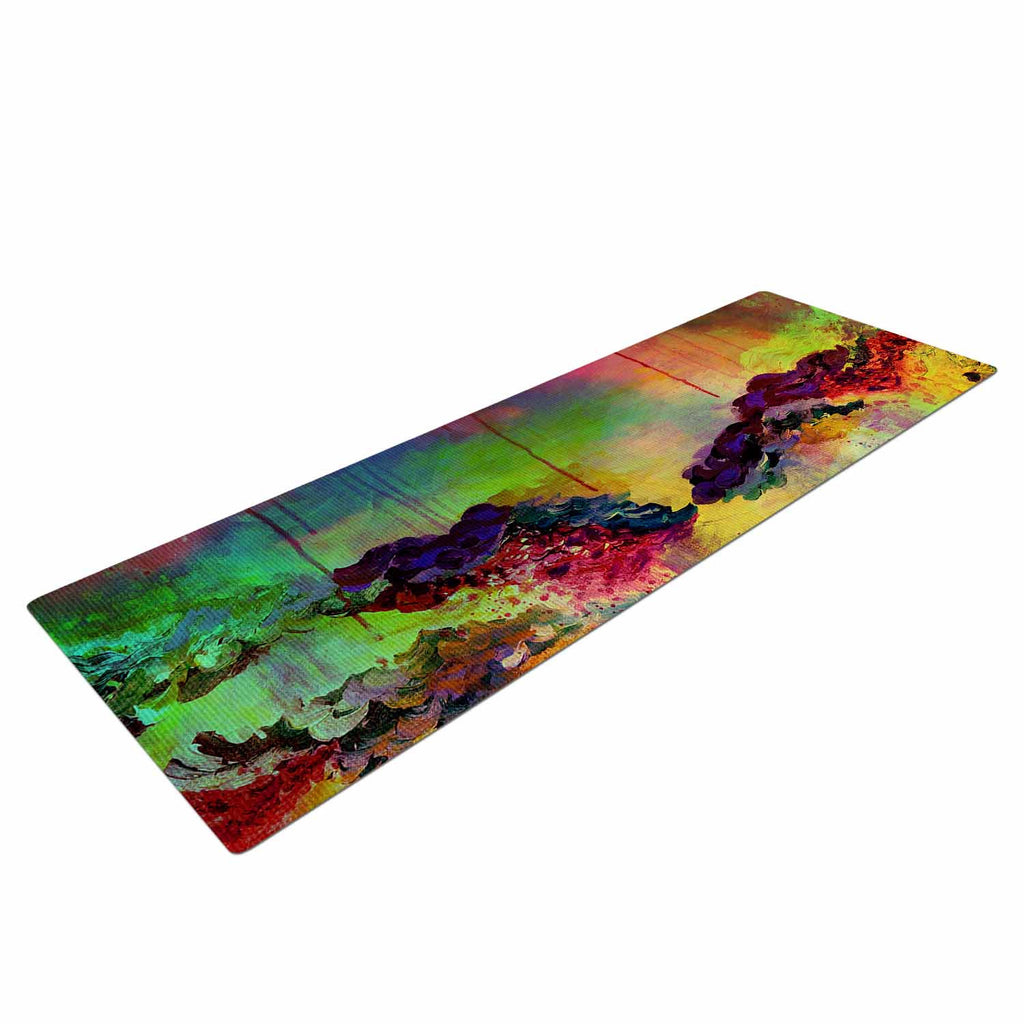 "Ebi Emporium ""It's A Rose Colored Life 4"" Yellow Red Yoga Mat - KESS InHouse  - 1"