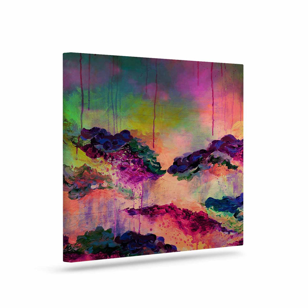 "Ebi Emporium ""It's A Rose Colored Life 3"" Magenta Orange Canvas Art - KESS InHouse  - 1"