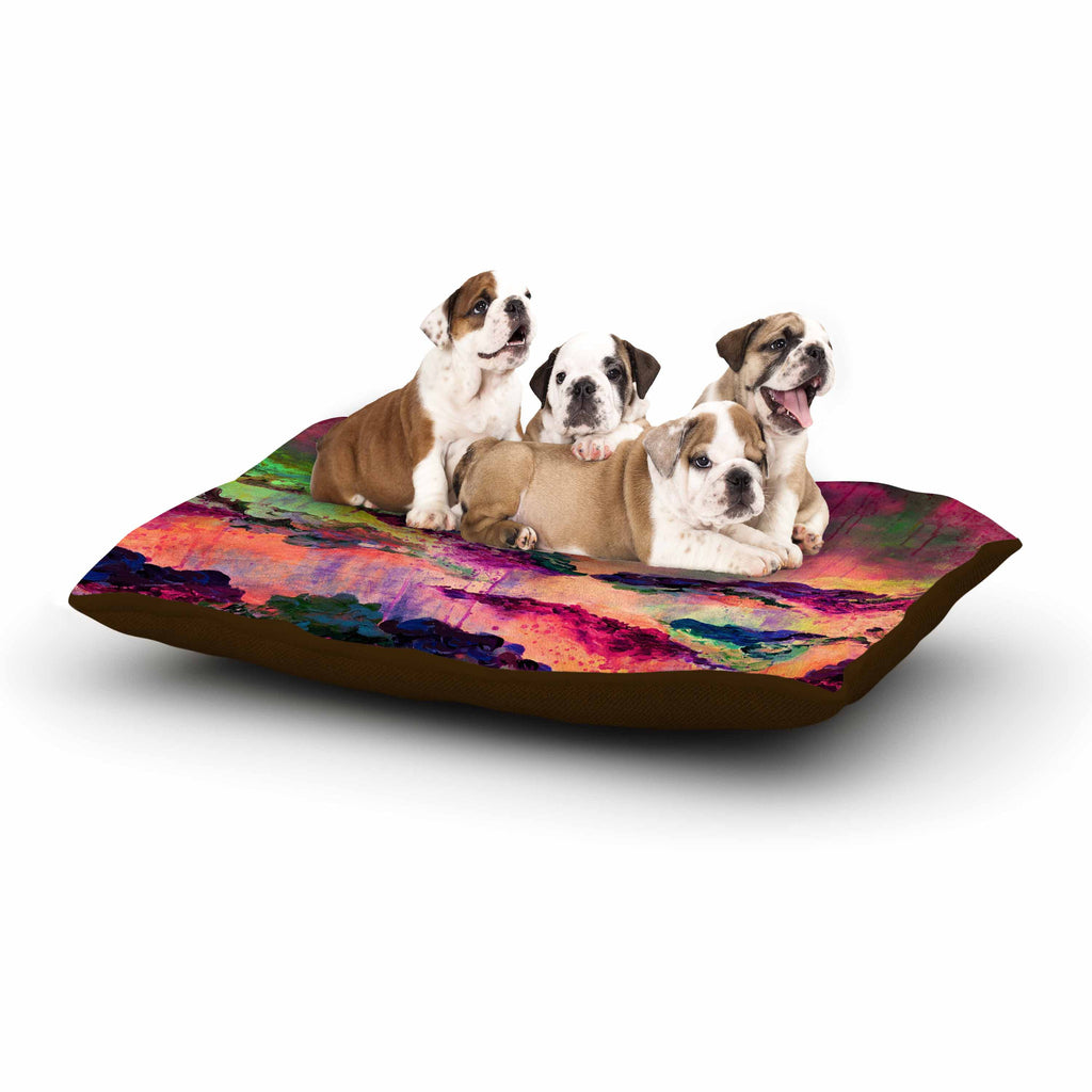 "Ebi Emporium ""It's A Rose Colored Life 3"" Magenta Orange Dog Bed - KESS InHouse  - 1"