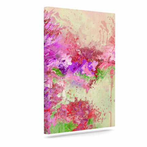 "Ebi Emporium ""When Land Met Sky 3"" Pink Green Canvas Art - Outlet Item"