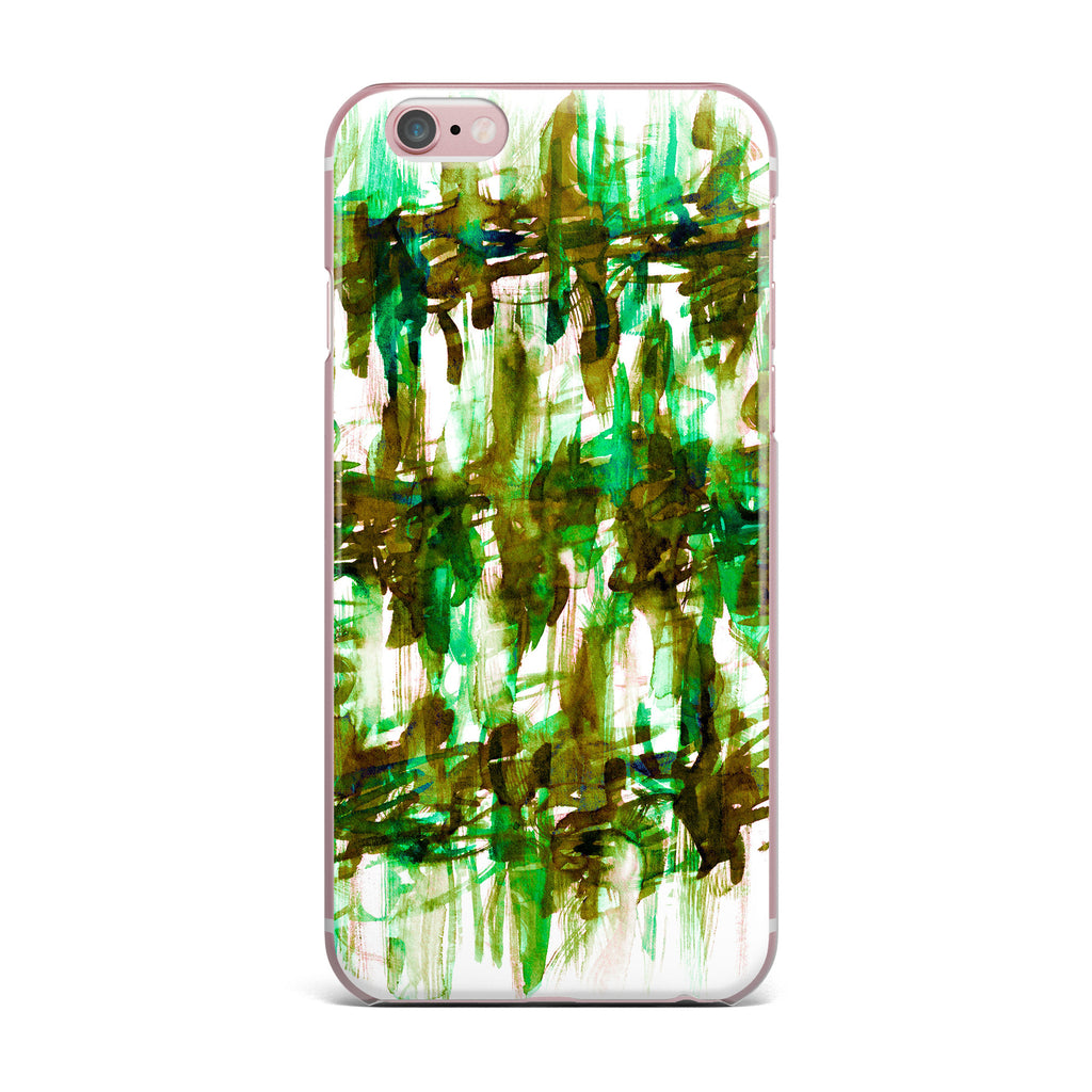 "Ebi Emporium ""White Noise 4"" Green Olive iPhone Case - KESS InHouse"