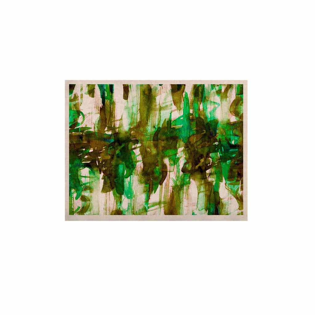"Ebi Emporium ""White Noise 4"" Green Olive KESS Naturals Canvas (Frame not Included) - KESS InHouse  - 1"