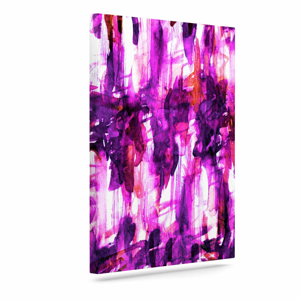 "Ebi Emporium ""White Noise 3"" Purple Magenta Canvas Art - KESS InHouse  - 1"