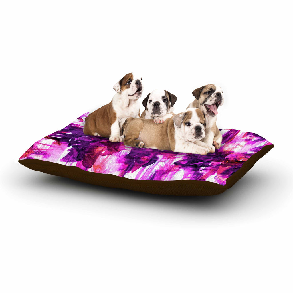"Ebi Emporium ""White Noise 3"" Purple Magenta Dog Bed - KESS InHouse  - 1"