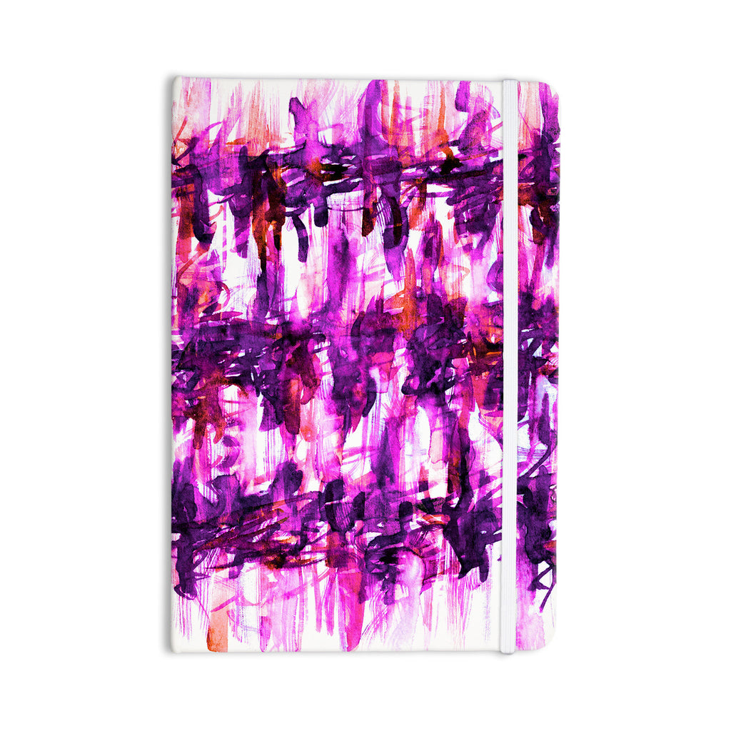"Ebi Emporium ""White Noise 3"" Purple Magenta Everything Notebook - KESS InHouse  - 1"