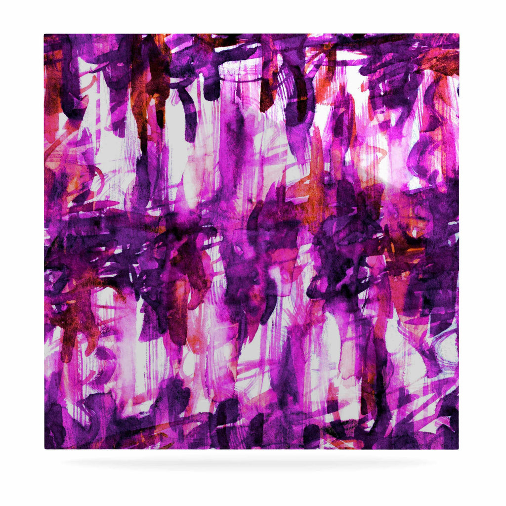 "Ebi Emporium ""White Noise 3"" Purple Magenta Luxe Square Panel - KESS InHouse  - 1"