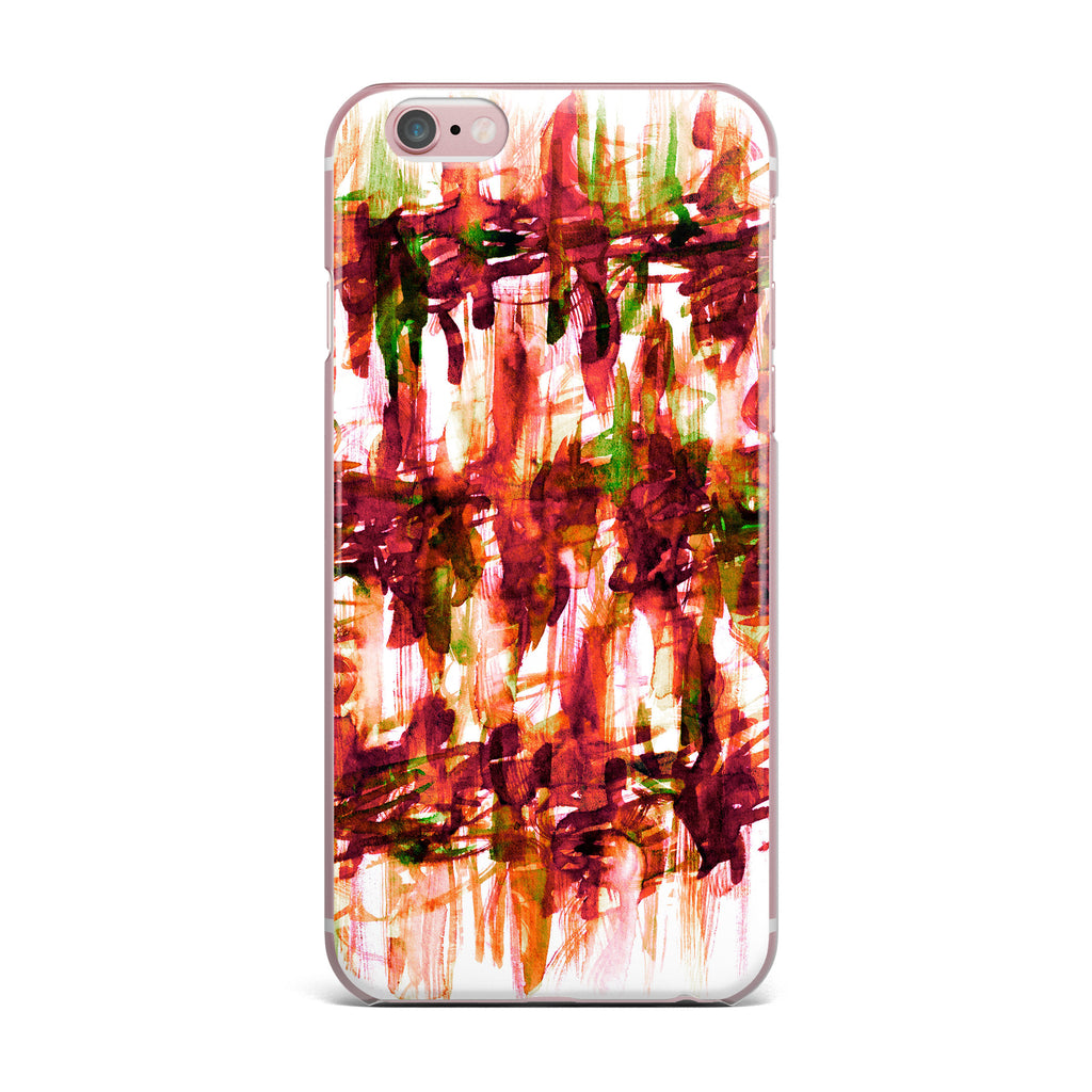 "Ebi Emporium ""White Noise 2"" Maroon Green iPhone Case - KESS InHouse"