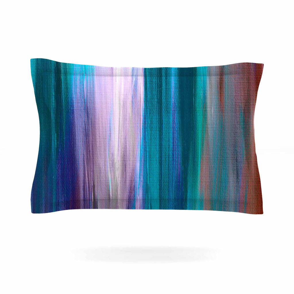 "Ebi Emporium ""Irradiated Multi 3"" Teal Lavender Pillow Sham - KESS InHouse  - 1"