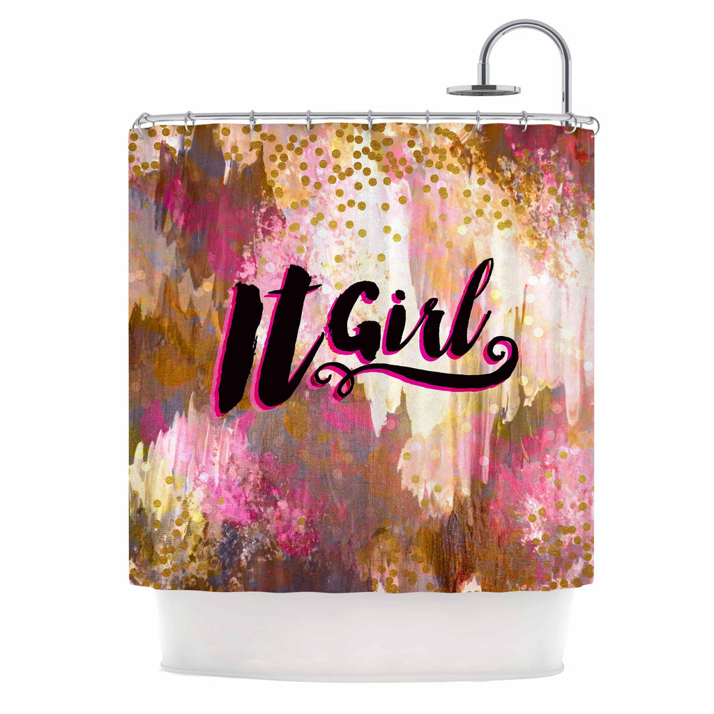 It Girl Black And Pink Shower Curtain By Ebi Emporium