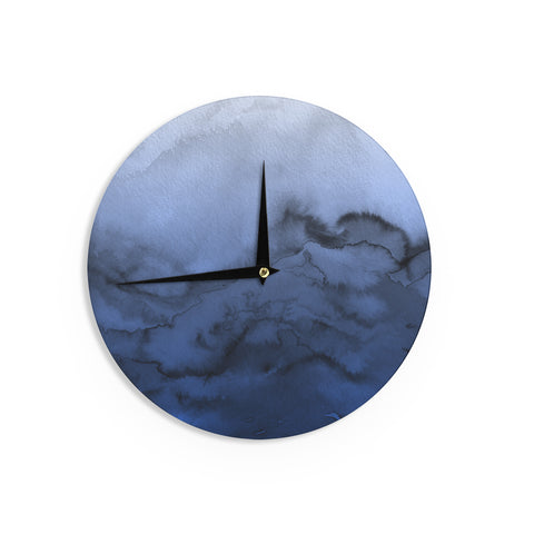 "Ebi Emporium ""Winter Waves 3"" Blue Black Wall Clock - Outlet Item"