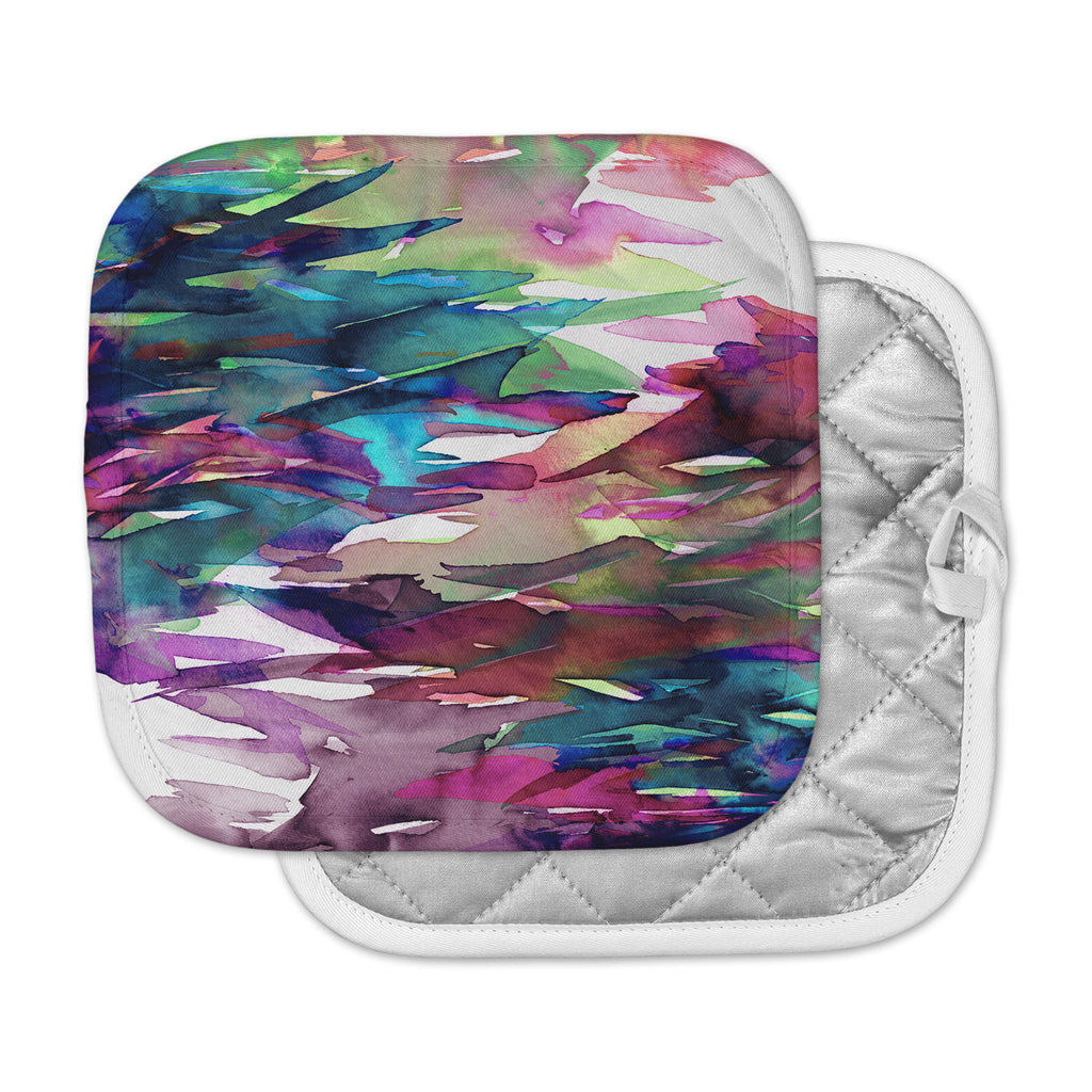 "Ebi Emporium ""Fervor 4"" Magenta Abstract Pot Holder"