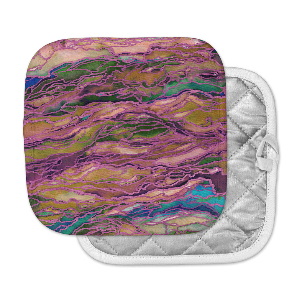 "Ebi Emporium ""Marble Idea! - Light Jewel Tone"" Lavender Pink Pot Holder"