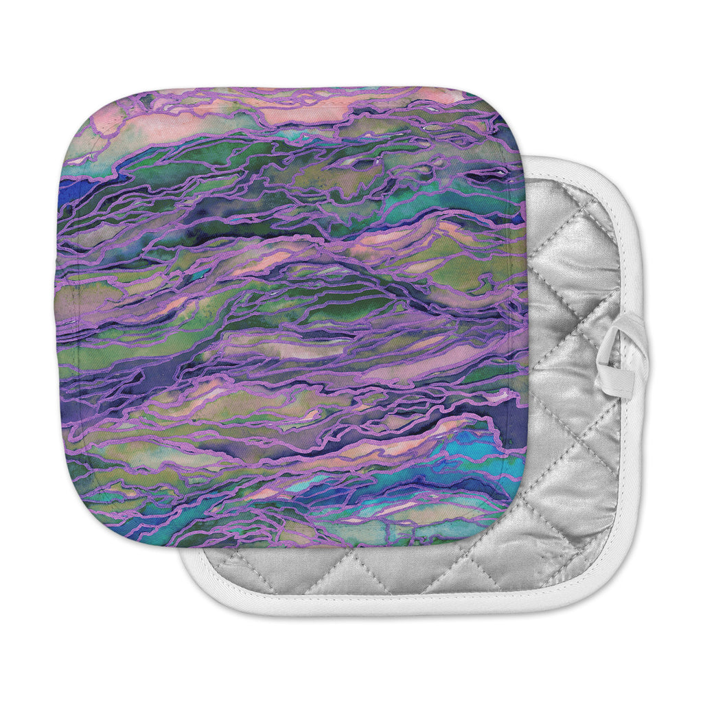 "Ebi Emporium ""Marble Idea! - Lavender Pink"" Purple Geological Pot Holder"