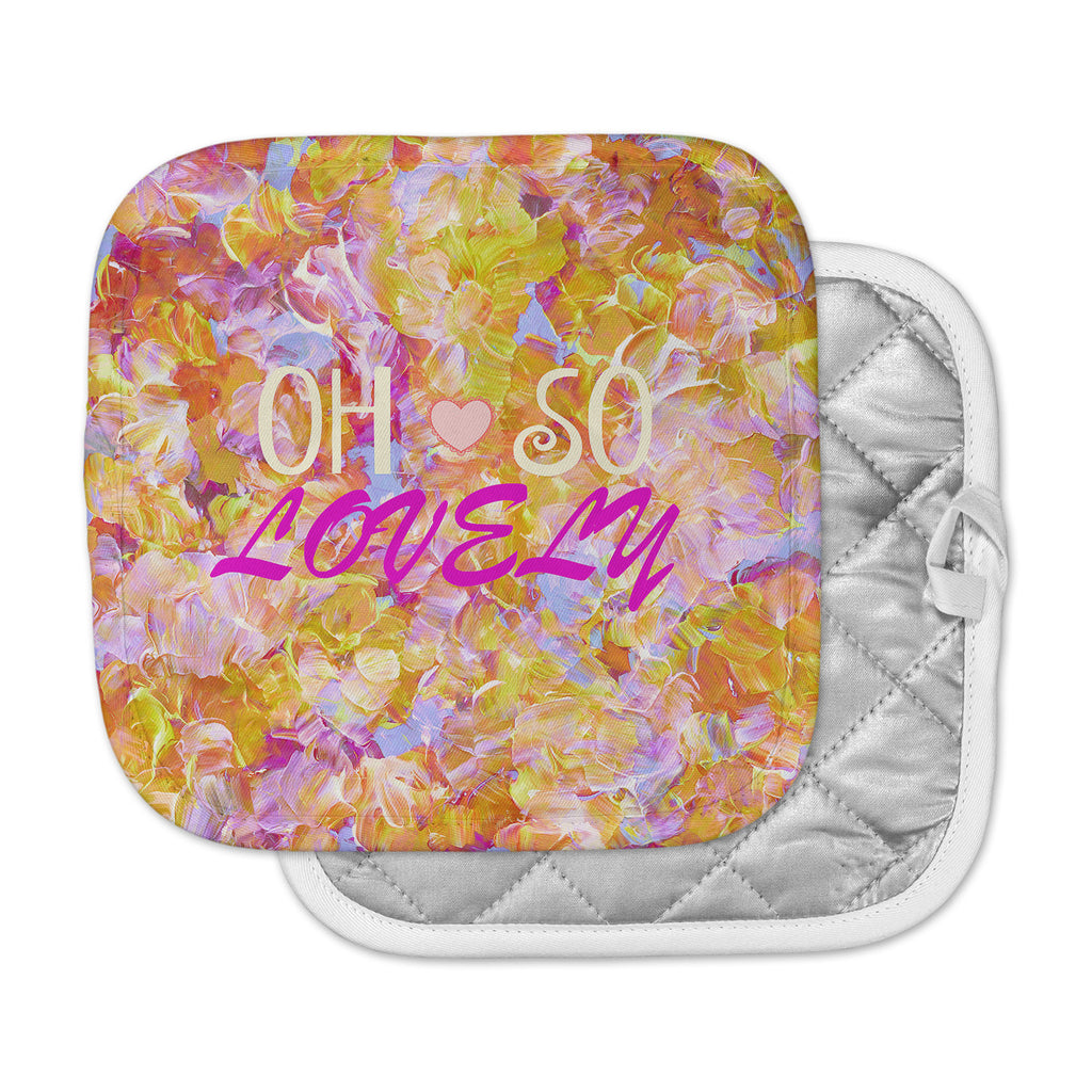"Ebi Emporium ""Oh So Lovely"" Yellow Pink Pot Holder"