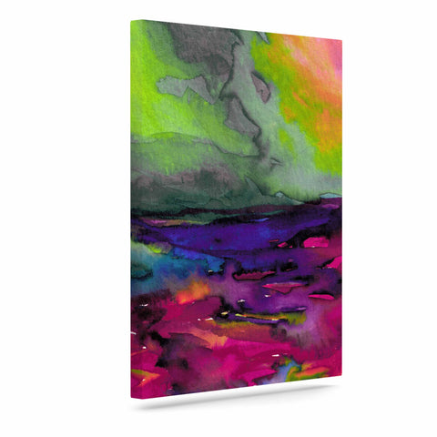 "Ebi Emporium ""Elevated 1 Magenta "" Orange Pink Canvas Art - Outlet Item"