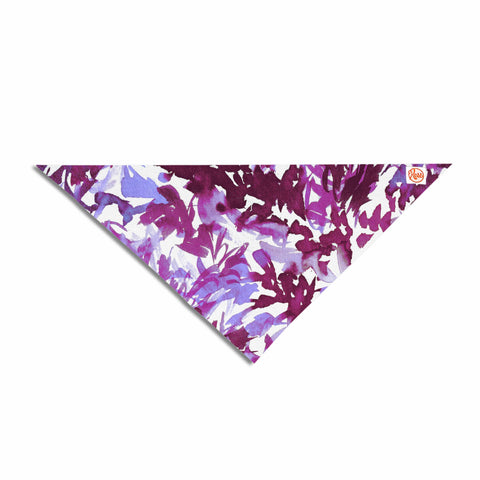 "Ebi Emporium ""In The Meadow 3 - Plum Purple "" White Lavender Pet Bandana - Outlet Item"