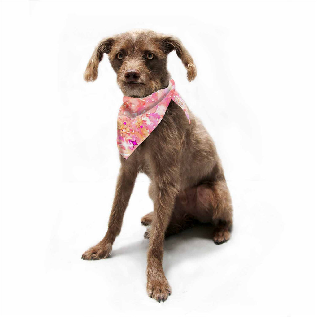 "Ebi Emporium ""Good Vibes Only 2"" Pink Yellow Pet Bandana - Outlet Item"