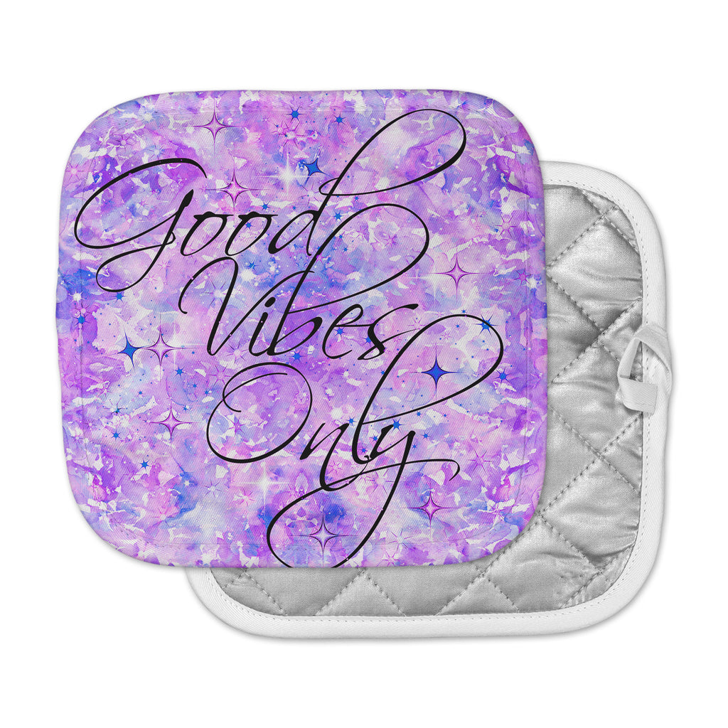 "Ebi Emporium ""Good Vibes Only 3"" Purple Lavender Pot Holder"