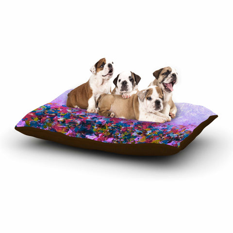 "Ebi Emporium ""Nature's Living Room Purple"" Purple Multicolor Painting Dog Bed - Outlet Item"
