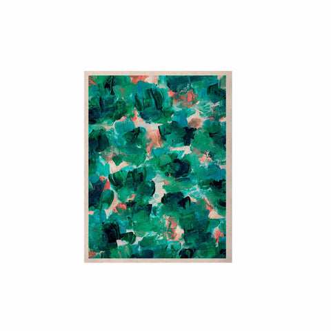 "Ebi Emporium ""Floral Spray 4"" Red Floral Abstract Painting Mixed Media KESS Naturals Canvas (Frame not Included)"