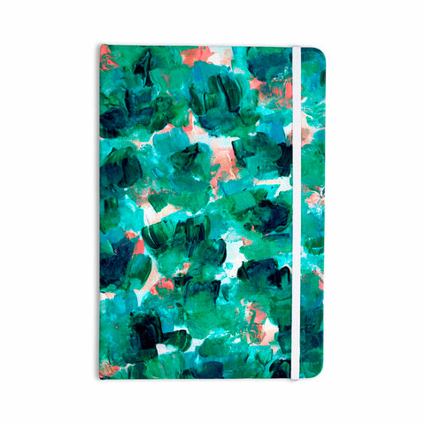 "Ebi Emporium ""Floral Spray 4"" Red Floral Abstract Painting Mixed Media Everything Notebook"