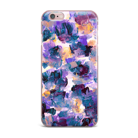 "Ebi Emporium ""Floral Spray 2"" Green Teal Floral Abstract Painting Mixed Media iPhone Case"