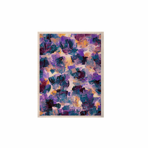 "Ebi Emporium ""Floral Spray 2"" Green Teal Floral Abstract Painting Mixed Media KESS Naturals Canvas (Frame not Included)"