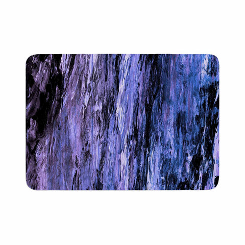 "Ebi Emporium ""RAINBOW BARK 6"" Purple Lavender Abstract Nature Painting Mixed Media Memory Foam Bath Mat"