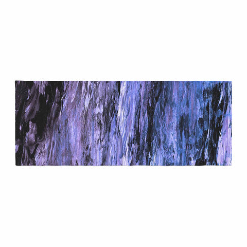 "Ebi Emporium ""RAINBOW BARK 6"" Purple Lavender Abstract Nature Painting Mixed Media Bed Runner"