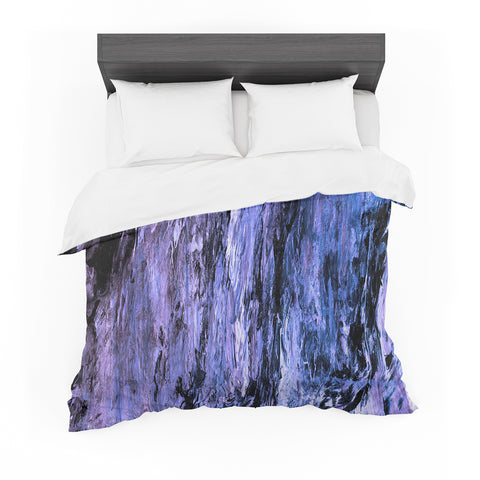 "Ebi Emporium ""RAINBOW BARK 6"" Purple Lavender Abstract Nature Painting Mixed Media Featherweight Duvet Cover"