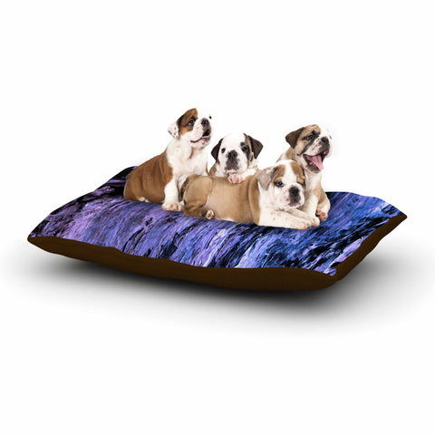 "Ebi Emporium ""RAINBOW BARK 6"" Purple Lavender Abstract Nature Painting Mixed Media Dog Bed"