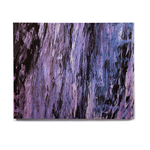 "Ebi Emporium ""RAINBOW BARK 6"" Purple Lavender Abstract Nature Painting Mixed Media Birchwood Wall Art"