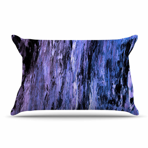 "Ebi Emporium ""RAINBOW BARK 6"" Purple Lavender Abstract Nature Painting Mixed Media Pillow Sham"