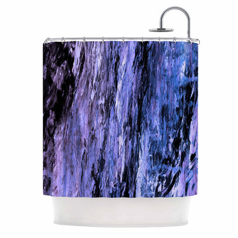 "Ebi Emporium ""RAINBOW BARK 6"" Purple Lavender Abstract Nature Painting Mixed Media Shower Curtain"