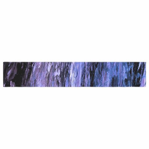"Ebi Emporium ""RAINBOW BARK 6"" Purple Lavender Abstract Nature Painting Mixed Media Table Runner"