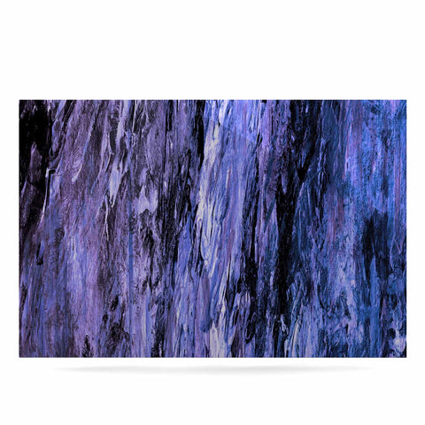 "Ebi Emporium ""RAINBOW BARK 6"" Purple Lavender Abstract Nature Painting Mixed Media Luxe Rectangle Panel"