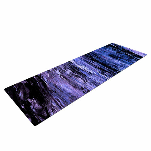 "Ebi Emporium ""RAINBOW BARK 6"" Purple Lavender Abstract Nature Painting Mixed Media Yoga Mat"
