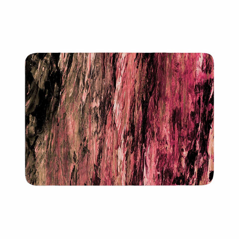 "Ebi Emporium ""RAINBOW BARK 4"" Magenta Coral Abstract Nature Painting Mixed Media Memory Foam Bath Mat"
