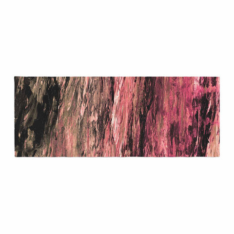"Ebi Emporium ""RAINBOW BARK 4"" Magenta Coral Abstract Nature Painting Mixed Media Bed Runner"
