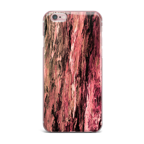 "Ebi Emporium ""RAINBOW BARK 4"" Magenta Coral Abstract Nature Painting Mixed Media iPhone Case"