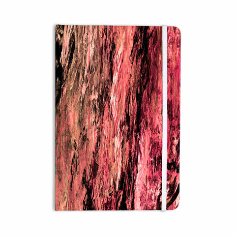 "Ebi Emporium ""RAINBOW BARK 4"" Magenta Coral Abstract Nature Painting Mixed Media Everything Notebook"