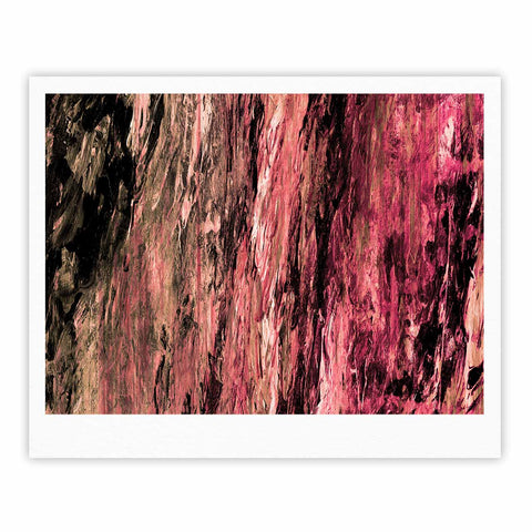 "Ebi Emporium ""RAINBOW BARK 4"" Magenta Coral Abstract Nature Painting Mixed Media Fine Art Gallery Print"