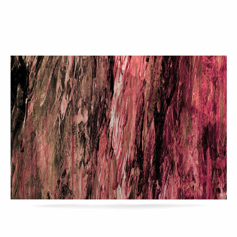 "Ebi Emporium ""RAINBOW BARK 4"" Magenta Coral Abstract Nature Painting Mixed Media Luxe Rectangle Panel"
