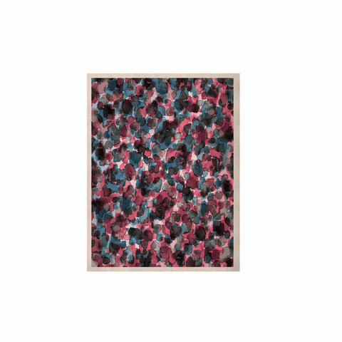 "Ebi Emporium ""WILD THING, PINK BLUE"" Pink Blue Animal Print Abstract Watercolor Mixed Media KESS Naturals Canvas (Frame not Included)"