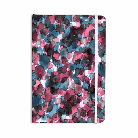 "Ebi Emporium ""WILD THING, PINK BLUE"" Pink Blue Animal Print Abstract Watercolor Mixed Media Everything Notebook"