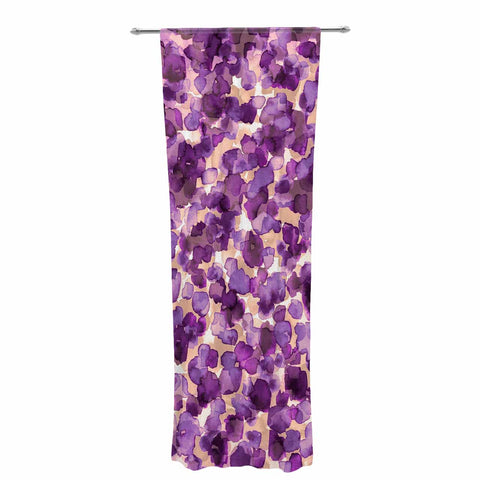 "Ebi Emporium ""WILD THING, PURPLE"" Purple Lavender Animal Print Abstract Watercolor Mixed Media Decorative Sheer Curtain"