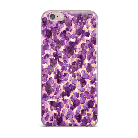 "Ebi Emporium ""WILD THING, PURPLE"" Purple Lavender Animal Print Abstract Watercolor Mixed Media iPhone Case"