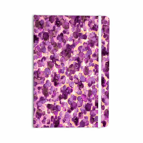 "Ebi Emporium ""WILD THING, PURPLE"" Purple Lavender Animal Print Abstract Watercolor Mixed Media Everything Notebook"